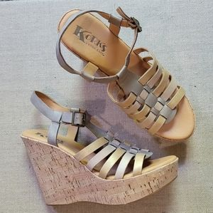 Kork-Ease kork strapped wedge sandals